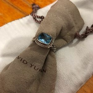 David Yurman Jewelry - David Yurman Blue Topaz & Diamond Ring